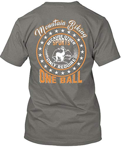 (Cool-Other Sports Only Require One Ball T Shirt, Mountain Biking T Shirt Unisex (L,Dark Grey))