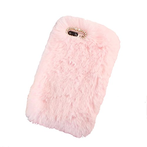 Handmade Faux Fur - iPhone 8 Plus Case,Gift_Source [Ultra Slim] Luxury Stylish Faux Fur Fluffy Plush Soft Case Handmade Bling Crystal Rhinestone TPU Rubber Gel Cover for iPhone 8 Plus / iPhone 7 Plus (5.5