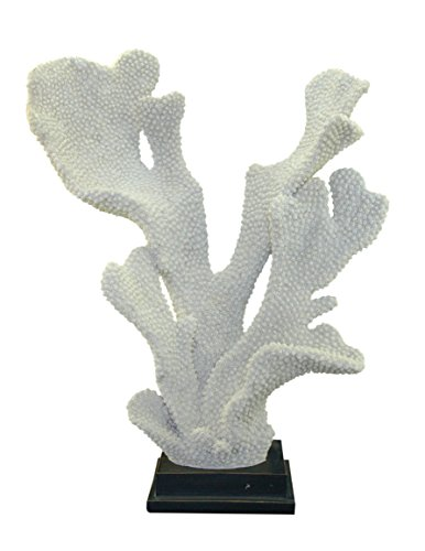 "Resin Coral Sculpture, 14"" x 6"" x 17"", White"