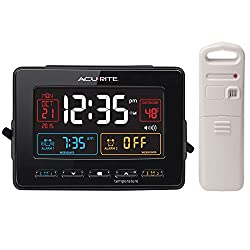 AcuRite 13022 Atomic Dual Alarm Clock with USB Charging and Temperature