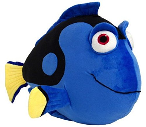7 pc Dory Reversible Comforter, Twin Sheets, Pillowcase, Blue Dory Plush Pillow, Orange Plush Fish Bank & Removable Wall Stickers, Seven Piece Bundle with a small ''To/From'' card to offer as a gift