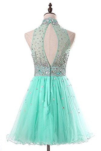 Prom Beaded Gown Bridal Homecoming Dress Annies A6 Tulle Halter Bridesmaid Short 1qAYx7Zwp