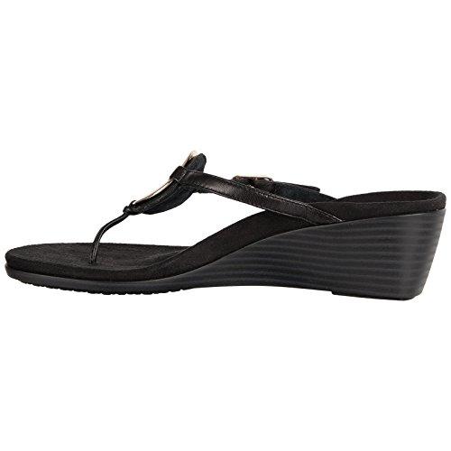Vionic Womens 380 Orchid Park Leather Sandals Black