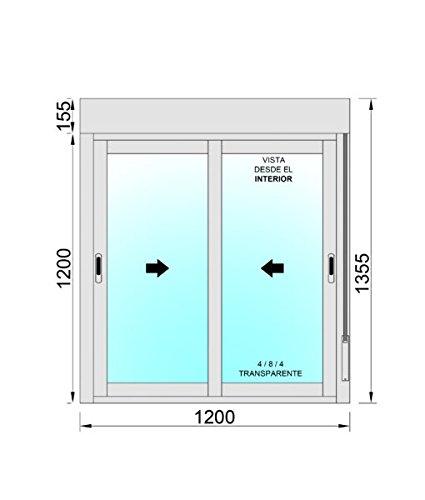 Ventana Aluminio Corredera Con Persiana PVC 1200 ancho /× 1355 alto 2 hojas