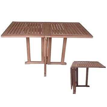Baltimore Mesa para terraza, diseño cuadrado, madera de eucalipto ...