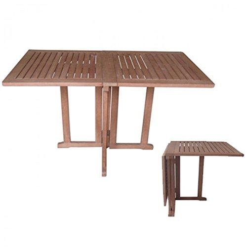 Balkontisch BALTIMORE ECKIG Eukalyptus geölt klappbar Klapptisch Tisch Gartenmöbel Holz