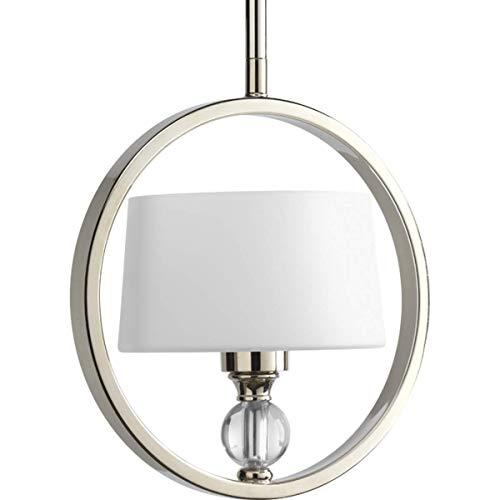 (Progress Lighting P5007-104 Fortune Collection 1-Light Mini-Pendant, Polished Nickel)