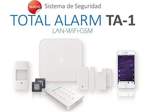 Kit de Alarma SIN cuotas Domótica TA-1 (WiFi + LAN + GSM)  ¡TU Seguridad en TU mano, SIN cuotas y SIN límites!