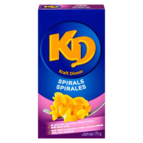 Kraft Dinner Spirals Macaroni & Cheese, 175g/6.2oz. (Pack of 24), Imported from Canada} (Kraft Dinner From Canada)