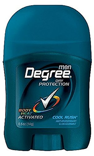 Degree Men Anti-Perspirant & Deodorant, Invisible Stick, Cool Rush, 0.5 Oz / 14 Gr (Pack of - Travel Deodorant