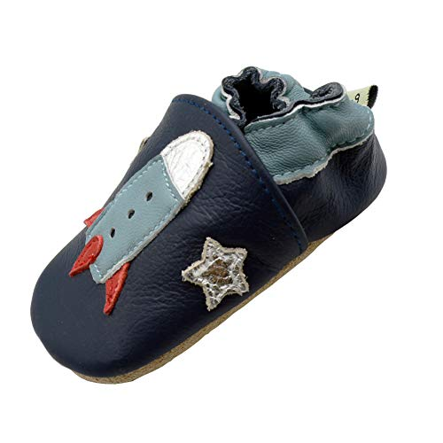 Shoes Star Mini Baby - iEvolve Baby Shoes Rocket Baby Toddler Soft Sole Prewalker Baby First Walking Shoes Crib Shoes Baby Moccasins(Navyblue Rocket, 12-18 Months)