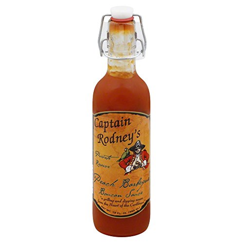 Captain Rodney's Private Reserve Peach BBQ Boucan Sauce, 13.0 Fluid Ounce (Pack of 1)