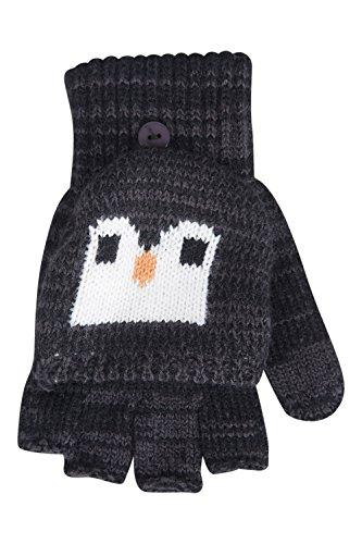 Mountain Warehouse Pinguin-Strickhandschuh für Kinder Grau