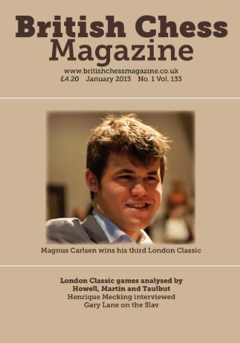 British Chess Magazine is the world's oldest chess journal, published continuously since 1881