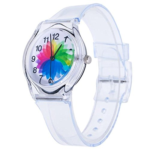 (Kids Watch,Roumin Cute Student Casual Outdoor Sports Beautiful Watch (Red Blue)