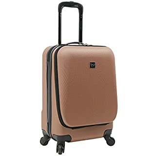 Travelers Club Laptop Carry On Hardside 4 Wheel Spinner, Rose Gold