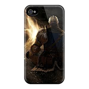 High Quality Whcases Dark Souls Bonfire Skin Case Cover Specially Designed For Iphone - 4/4s