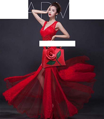 Sac Sac OHmais Cuir Rouge en pour fille femme bandoulière porté épaule à Sac main PU 6XrcvRdSr