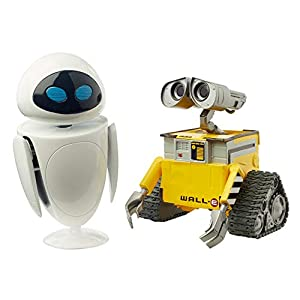 Best Epic Trends 41EiHrDdLPL._SS300_ Disney Pixar WALL-E and Eve Figures[Amazon Exclusive]True to Movie Scale Character Action Dolls Highly Posable with…