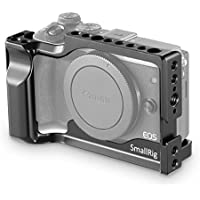 SmallRig M3/M6 Cage with Built-in Quick Release Plate for Arca Swiss Standard, NATO Rail and Anti-twist 3/8'' Locating Holes for Canon EOS M3 and M6-2130