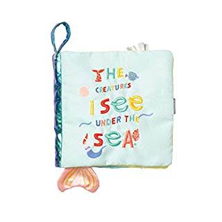 Manhattan Toy Under The Sea Soft Baby Activity Book with Squeaker Fish