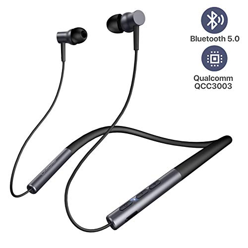Wireless Bluetooth Headphones, Bluetooth Earbuds Wireless in-Ear Neckband Bass Headphones, UMIDIGI Ubeats Bluetooth 5.0 Waterproof Magnetic Earphones with Mic (12 Hours Play Time, Cvc6.0, IPX5)