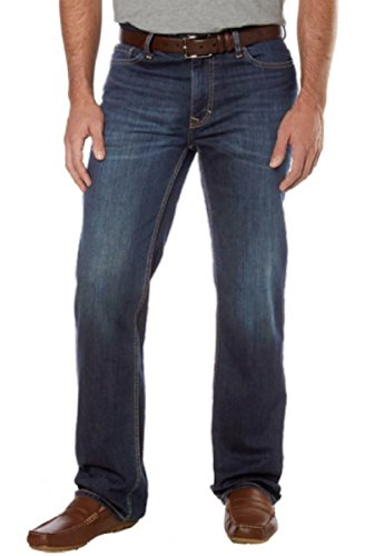 Calvin Klein Mens Classic 5-Pocket Straight Leg Casual Blue Denim Jeans (32W 30L, Vintage (Calvin Klein Classic Jeans)