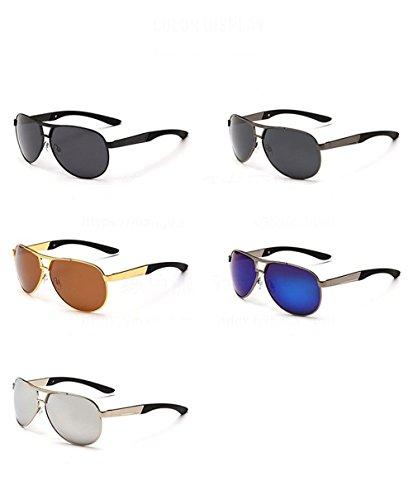 lunettes Doré pour au de polarisées coupe Lunettes Thé soleil CHshop vent hommes soleil Cadre coréen de wRxqYROZI