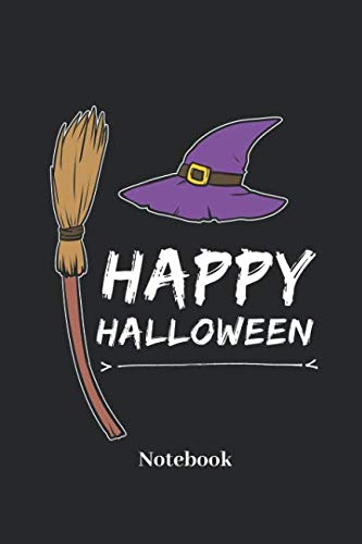 Happy Halloween Notebook: Liniertes Notizbuch für Hexen, Grusel und Halloween Fans - Notizheft Klatte für Männer, Frauen und Kinder (German Edition) -