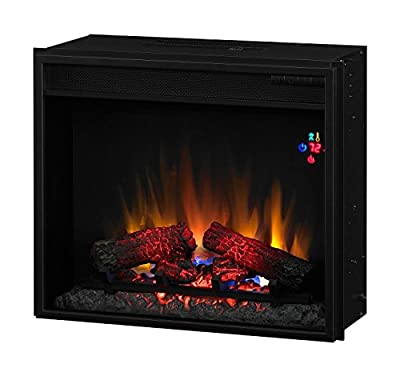 "Classic Flame 23EF023GRA INSERT ONLY. Fixed Front 23"" Insert w/Backlit Display, with Remote"