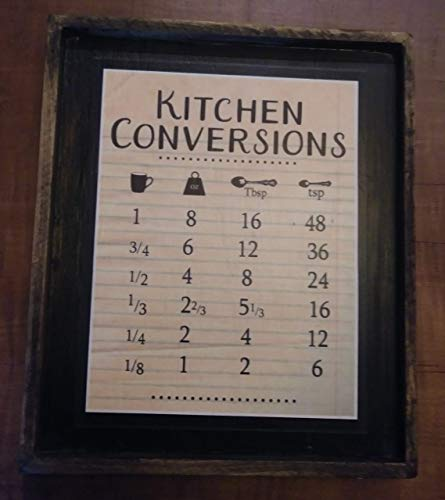 Kitchen Conversions - Wooden Sign