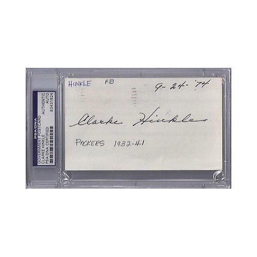 Clarke Hinkle Autographed Signed Gpc Government Postcard - PSA/DNA