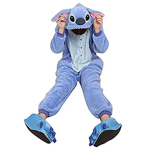 SHELY Unisex Adult Pajamas Plush Onepiece Cosplay Animal Costume (L for Height(65