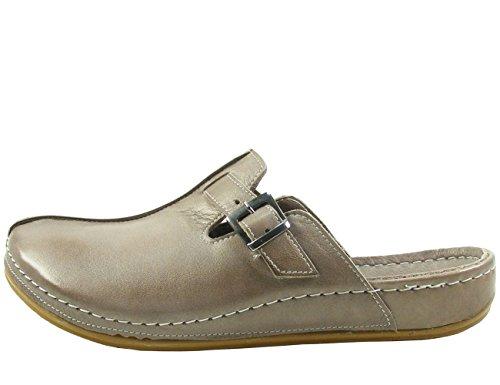 Andrea Conti Damen Clogs 0021541 Leder Pantoletten, Schuhgröße:41, Farbe:Grün