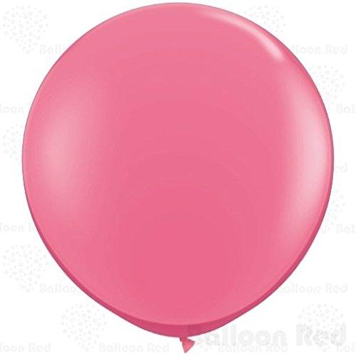 36 Inch Giant Jumbo Latex Balloons (Premium Helium Quality), Pack of 12, Hot Pink