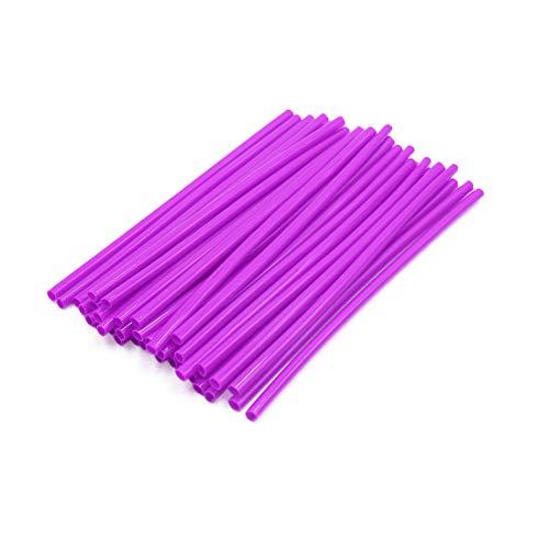 Motorcycle Spoke Wheels Wire (uxcell 36pcs 17cm Length Motorcycle Wheel Steel Wire Spoke Reflective Clip Tube Purple)