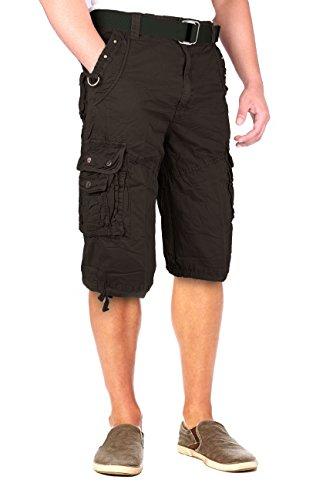 Cotton Military Style Multi Pocket Cargo Short-153009-Blk-38 (Style Black Short)