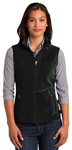 Port Authority Ladies R-Tek Pro Fleece Full-Zip Vest, Black/ Black, XX-Large