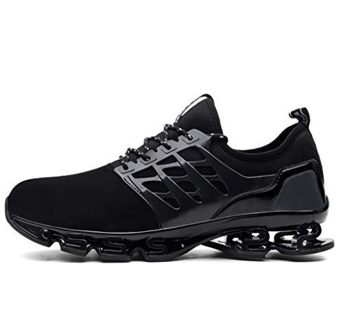 実際に虐待ジョージハンブリーメンズウォーキングシューズ秋ハイ弾力性ダンピングブレードシリーズ屋外スニーカー通気性メッシュファッションランニング大規模なスポーツ靴(EU38-EU47)