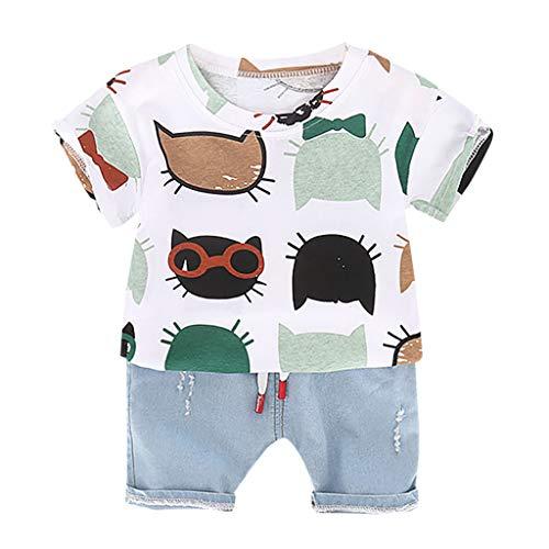 Amazon.com: Iuhan 2PCS Clothes Set Baby Boys Cartoon Print Tops T ...