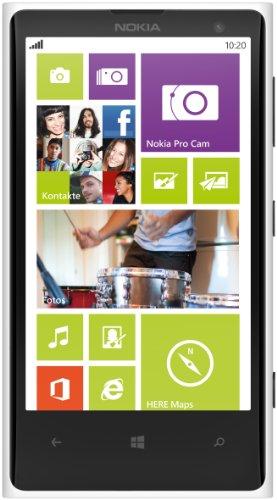 Nokia Lumia 1020 RM-875 32GB Unlocked GSM Windows Cell Phone - White International Version No Warranty (Nokia 1020 Unlocked International)