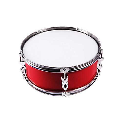 LVSSY-Snare Drum Stainless Steel Ring Snare Drum Young Pioneers Drum Team Unique,It is Widely Used in Symphony Orchestras,Marching Military Bands and Jazz Bands