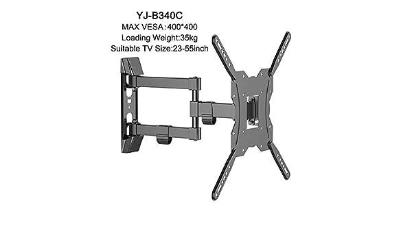 Tamv Soporte de TV Giratorio e inclinable de Brazo de articulación de Movimiento Completo para Montaje en Pared Ultra Delgado de TV para LCD, LED, televisores de Plasma 3D (tamaño : A):