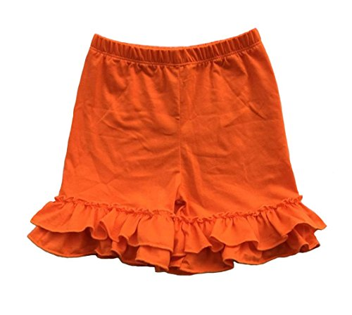 - Coralup Baby & Little Girls Ruffles Cotton Shorts P6090_Orange(S,1-2Y)