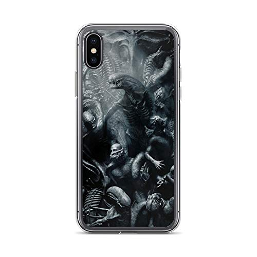 iPhone X/XS Case Anti-Scratch Motion Picture Transparent Cases Cover Alien Mural Movies Video Film Crystal Clear (Texas Toads Cartoon)