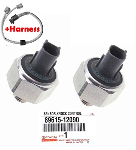 10 YEAR WARRANTY OEM DENSO Knock Sensor 89615-12090 & Harness for TOYOTA Avalon Camry Celica Highlander Sienna Solara Lexus ES 300 GS300 CS300 RX300 -