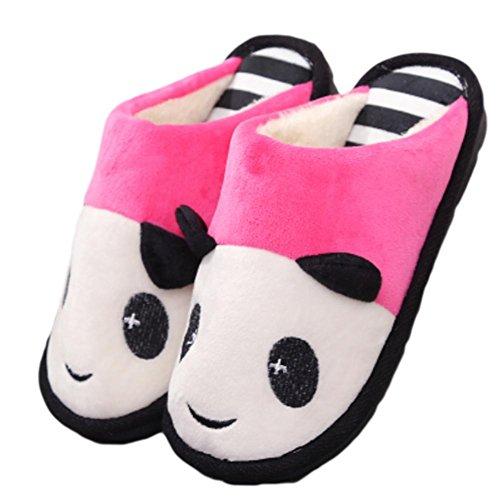 Anti WDGT Dessin Coton Animé Peluche Chaussons Pantoufles Maison Hommes Chaussures Hiver Femmes Respirant on Pantoufles pink Mignon Couple Adulte Confort Slip de Slip pour Pantoufles d'intérieur qxzYCrqEw