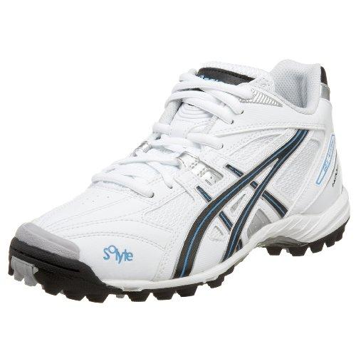 ASICS Women's GEL-V Cut MT Turf Field Shoe,White/Black/Silver,11 B US