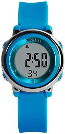 Hiwatch Youth Digital Watch for Girls LED Toddler Waterproof Sport Wirst Watch for Kid Blue