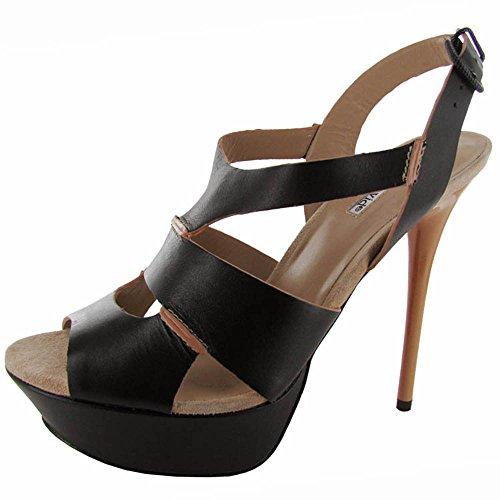 Sandalo Con Piattaforma Di Azoto Da Donna Charles David Nero / Blush